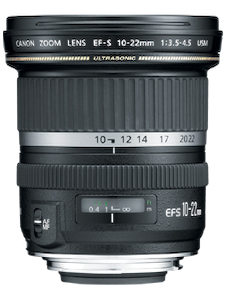 Canon EF-S 10-22mm f/3.5-4.5 lens